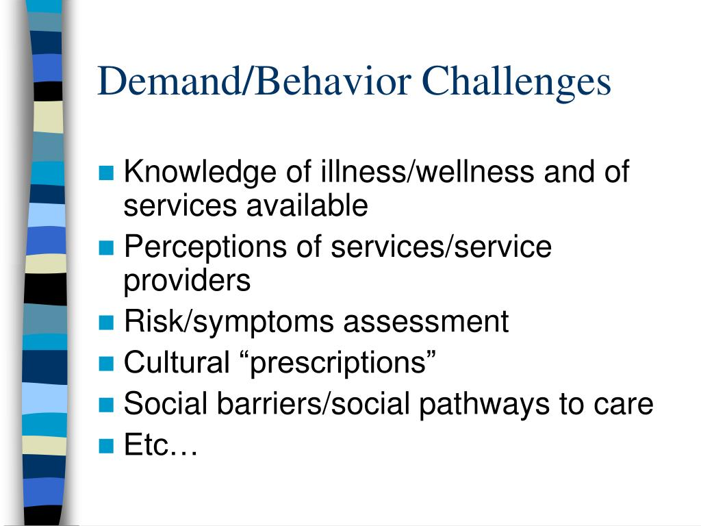 Demand/Behavior Challenges