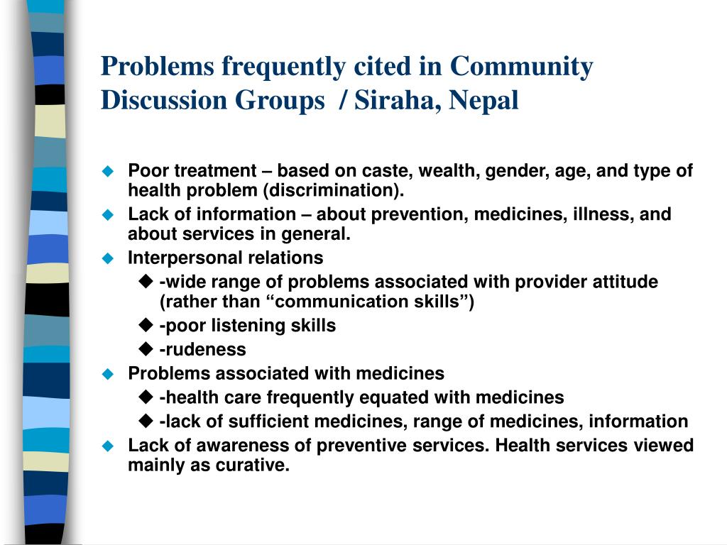 Problems frequently cited in Community Discussion Groups  / Siraha, Nepal