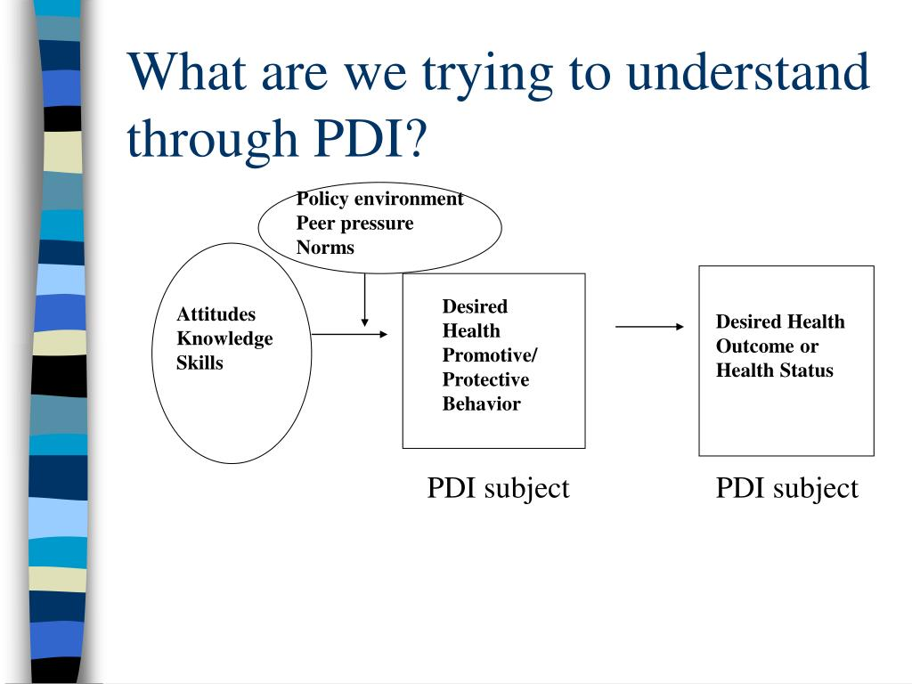 What are we trying to understand through PDI?