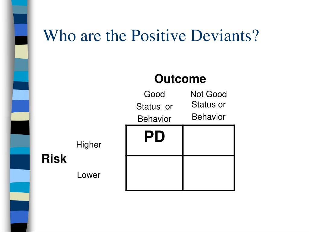 Who are the Positive Deviants?