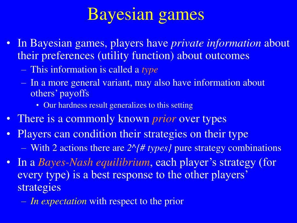 Bayesian games