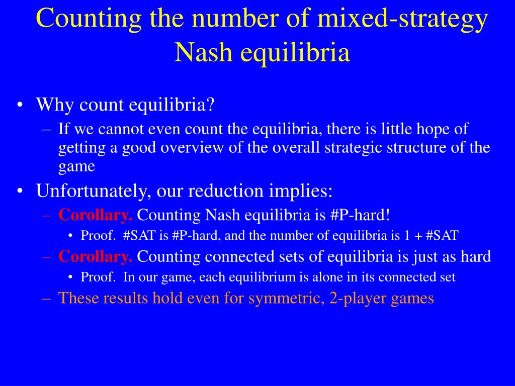 Counting the number of mixed-strategy Nash equilibria