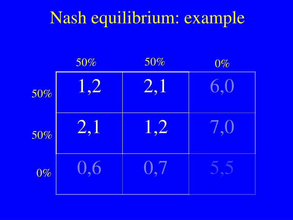 Nash equilibrium: example