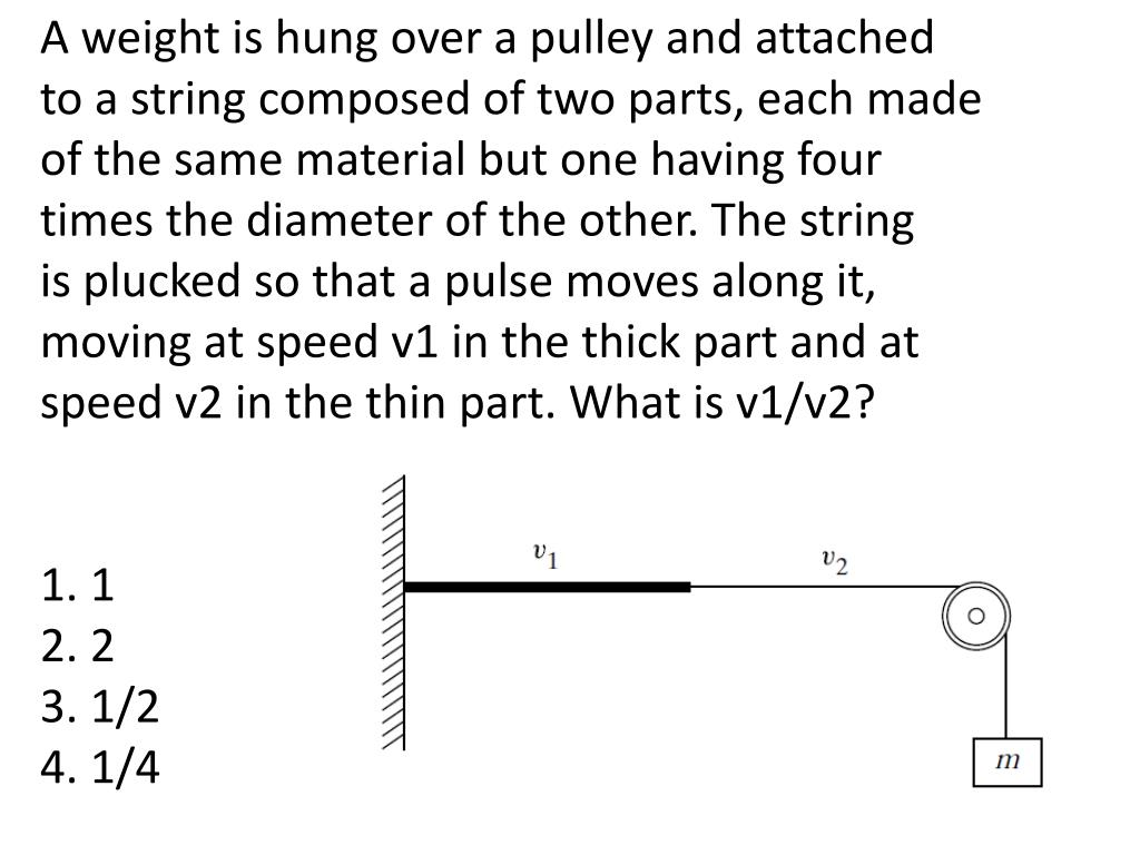 A weight is hung over a pulley and attached
