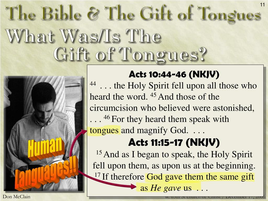Acts 10:44-46 (NKJV)