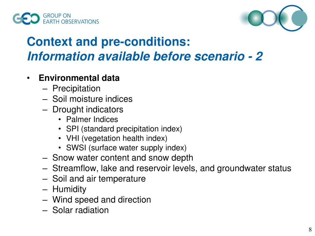 Context and pre-conditions: