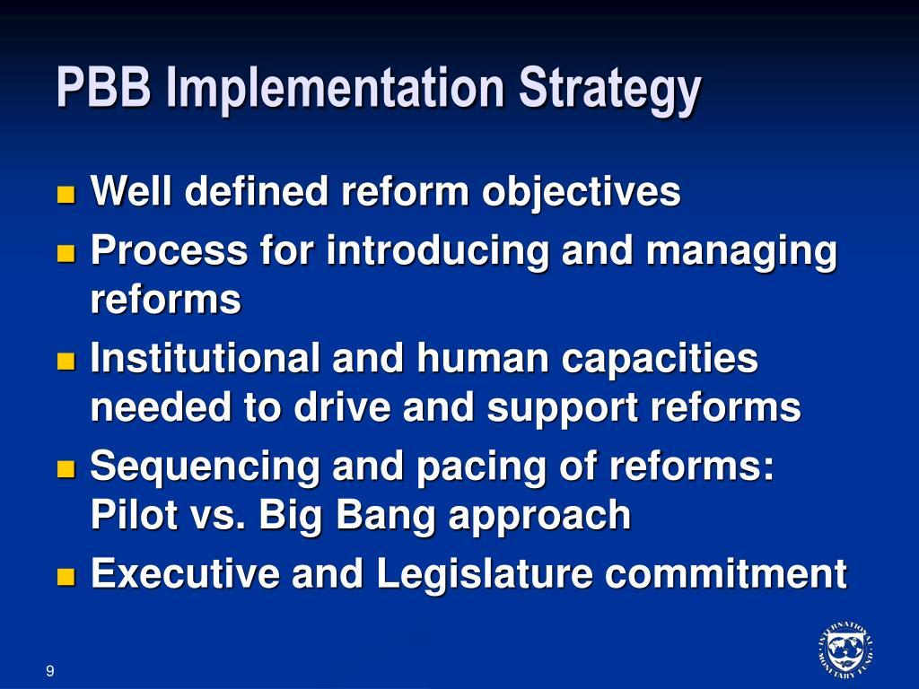PBB Implementation Strategy