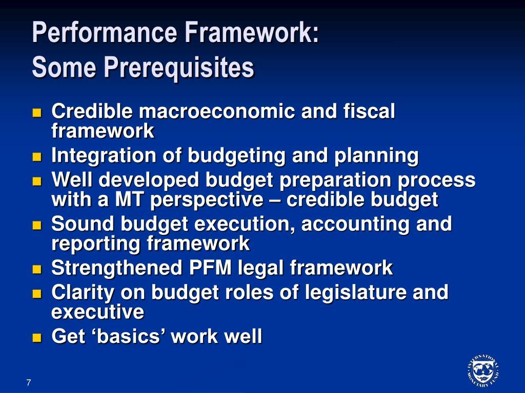 Performance Framework: