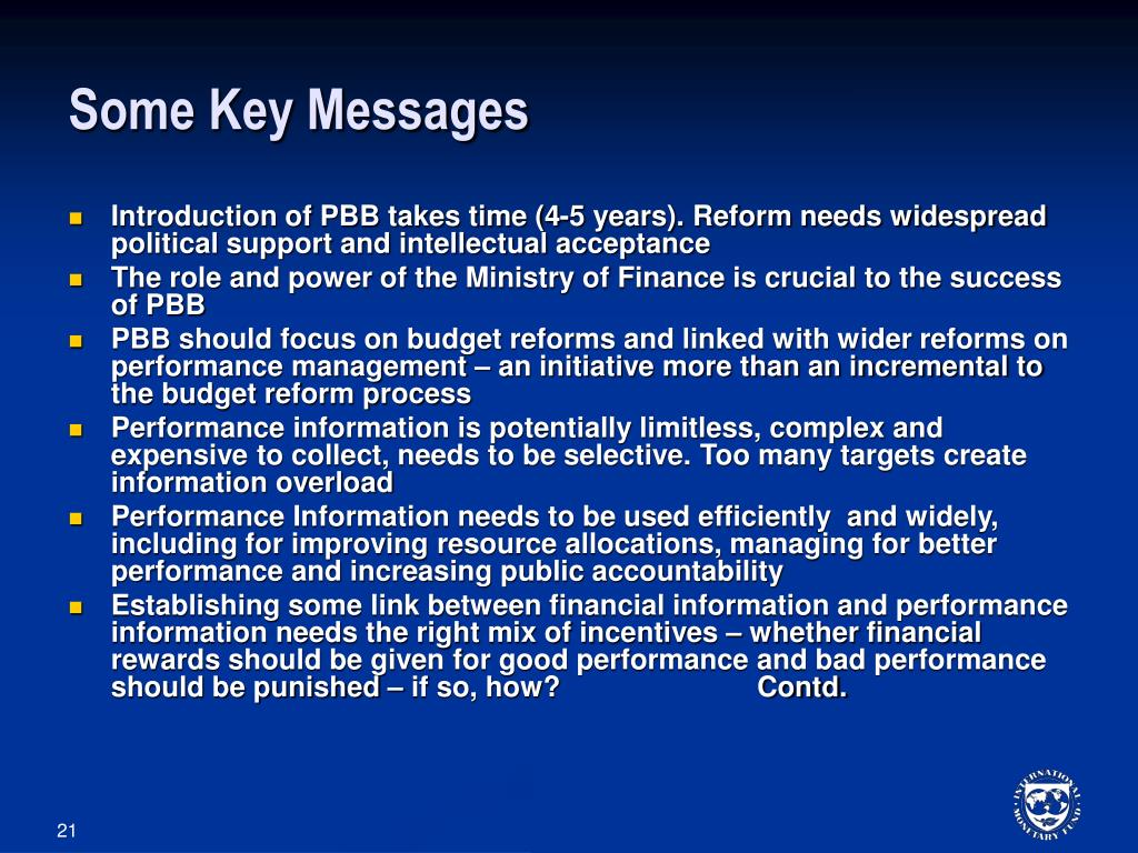 Some Key Messages