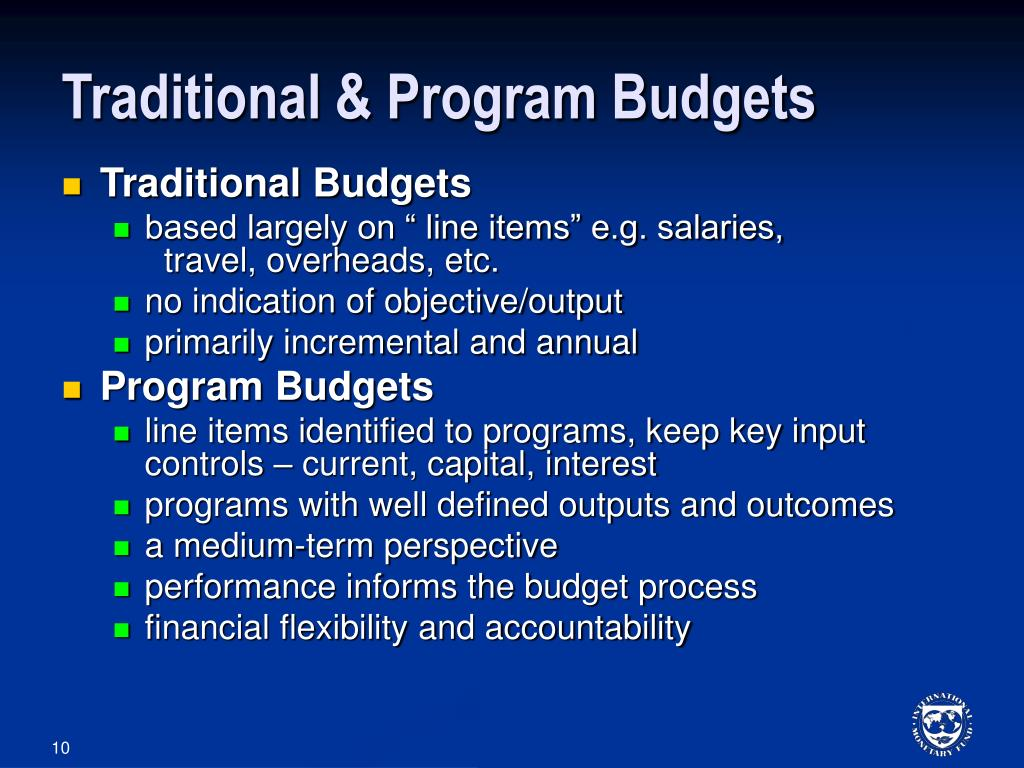 Traditional & Program Budgets