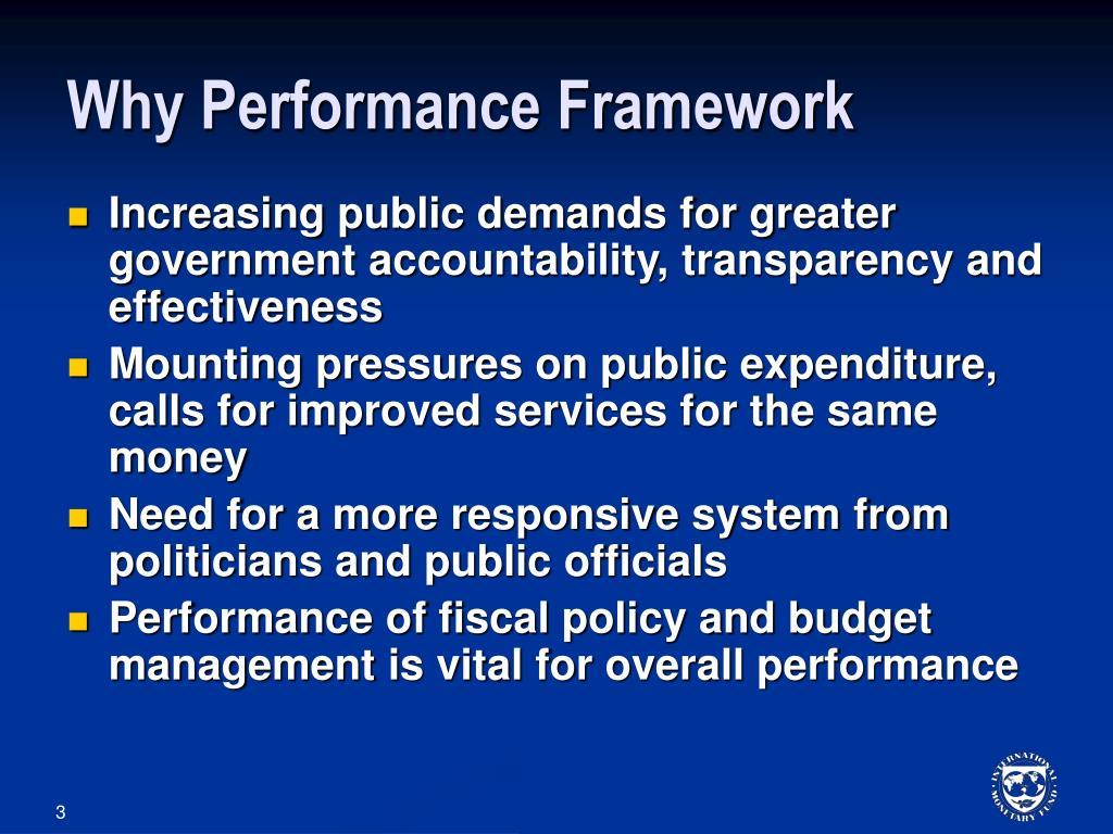 Why Performance Framework