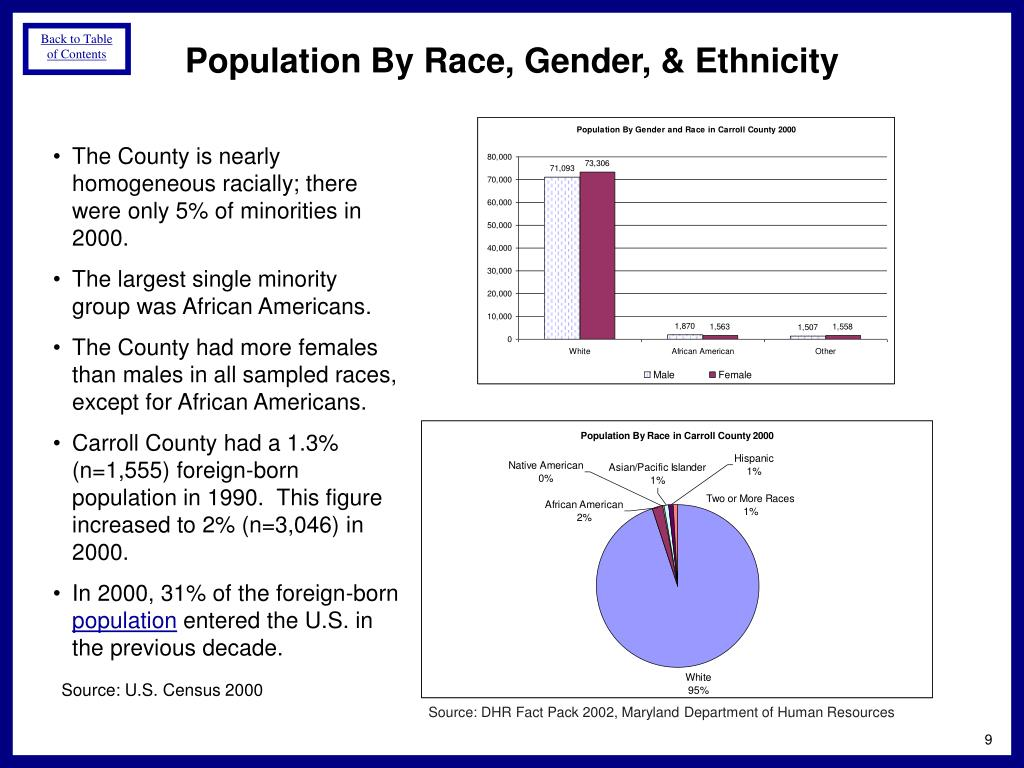 Population By Race, Gender, & Ethnicity