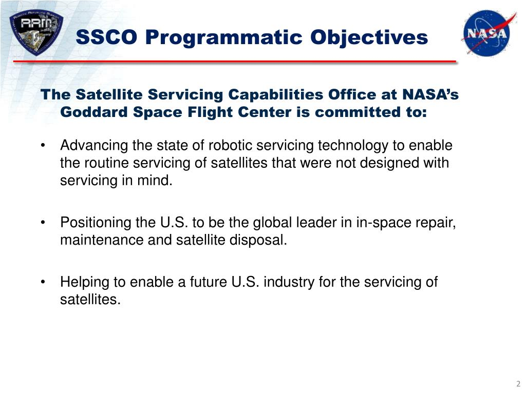 SSCO Programmatic Objectives