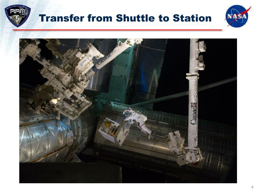 Transfer from Shuttle to Station