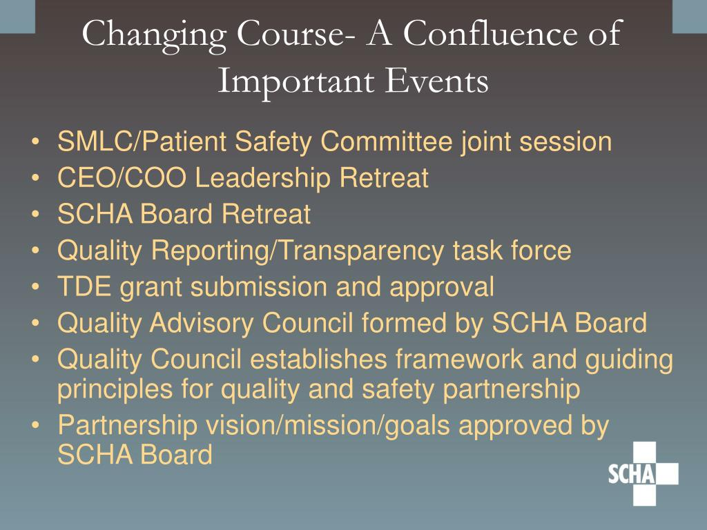 Changing Course- A Confluence of Important Events