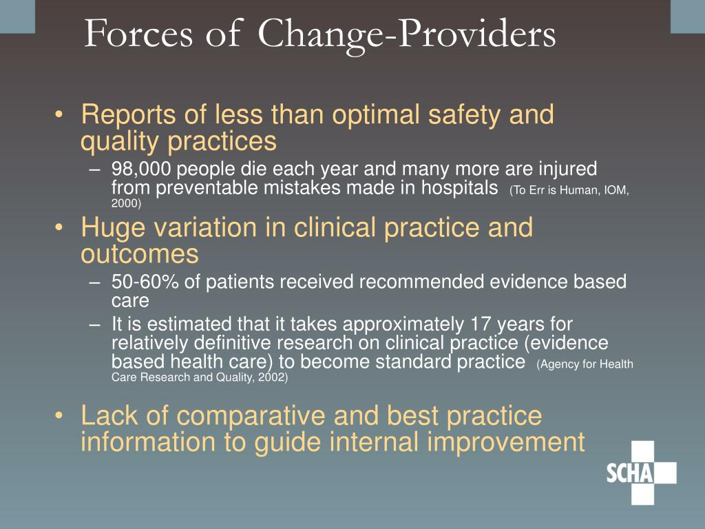 Forces of Change-Providers