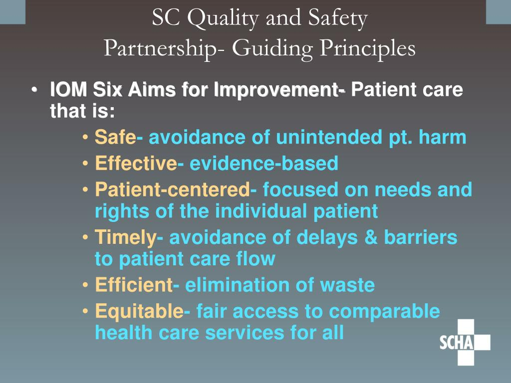 SC Quality and Safety