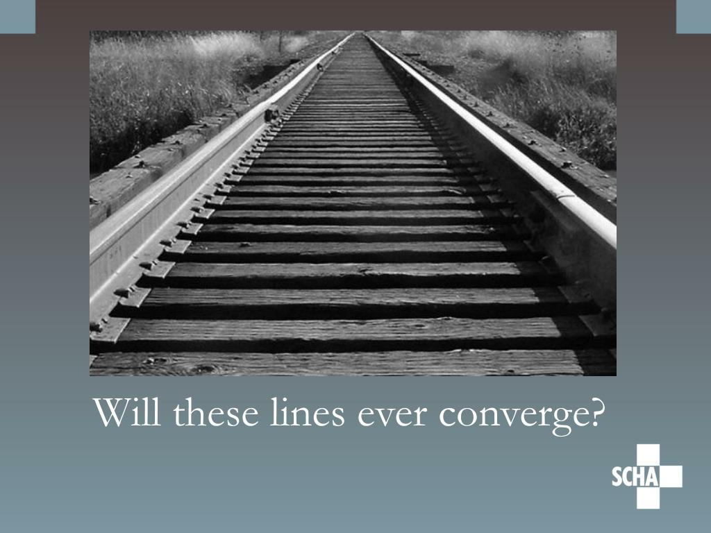 Will these lines ever converge?