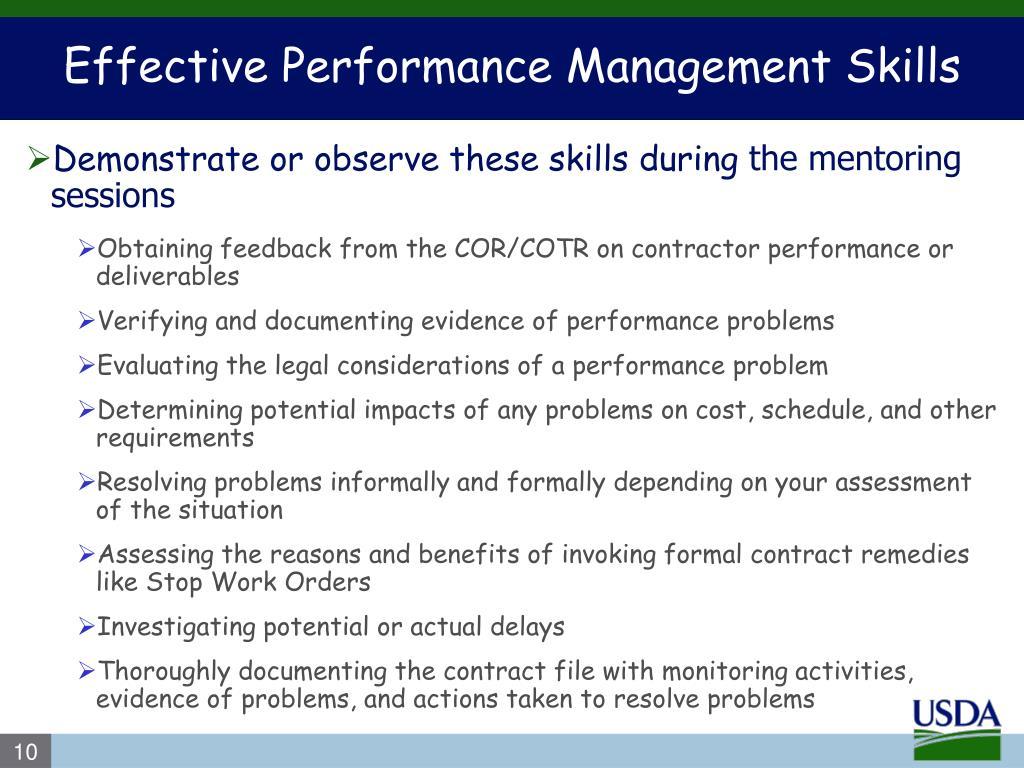 Effective Performance Management Skills