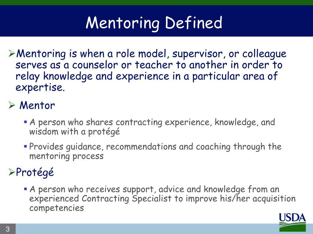 Mentoring Defined