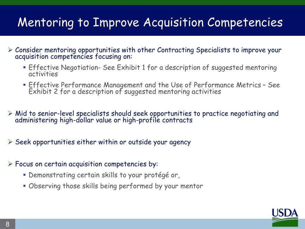 Mentoring to Improve Acquisition Competencies