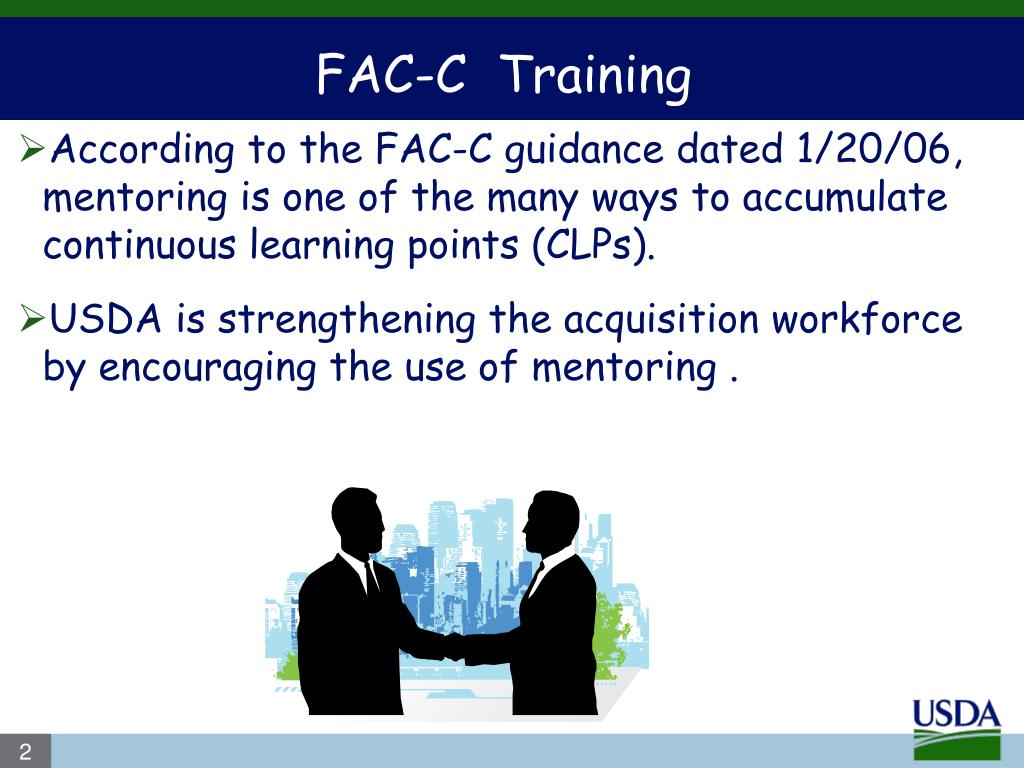 According to the FAC-C guidance dated 1/20/06, mentoring is one of the many ways to accumulate continuous learning points (CLPs).