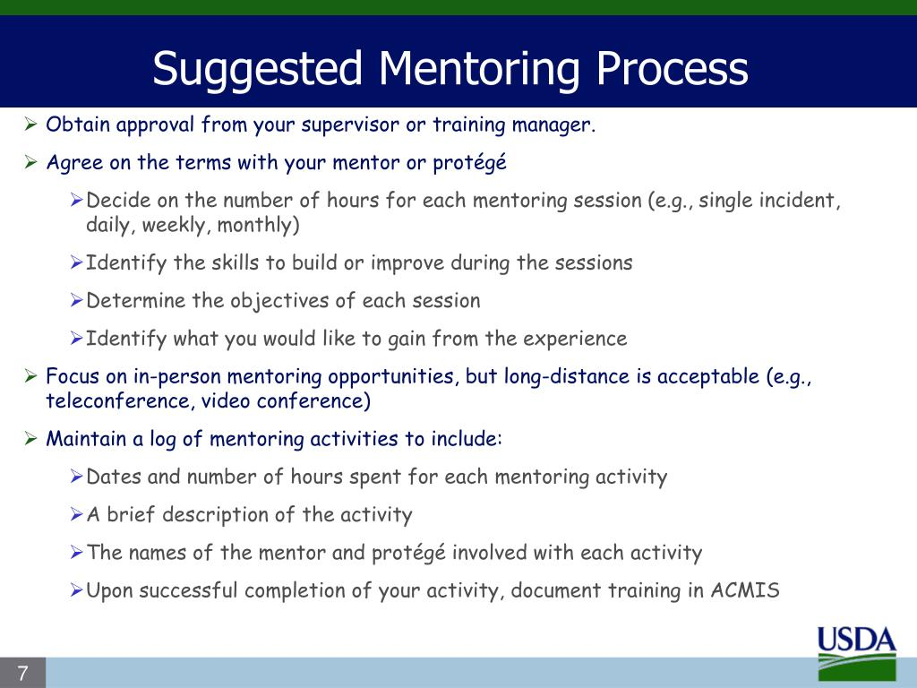 Suggested Mentoring Process