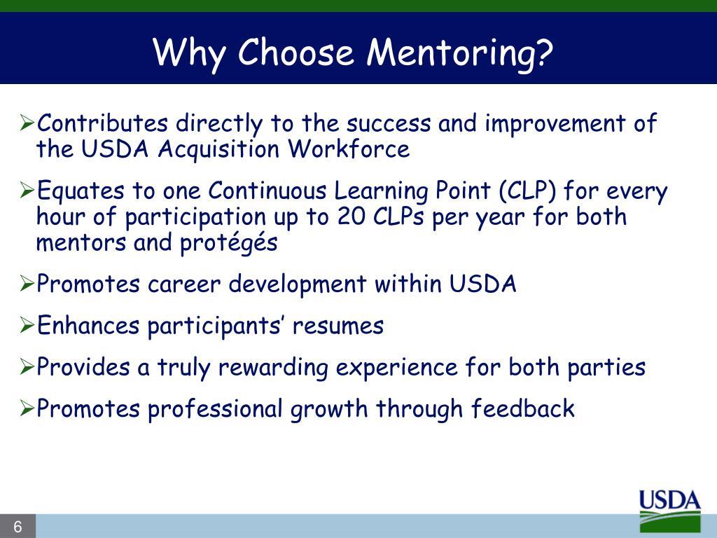 Why Choose Mentoring?