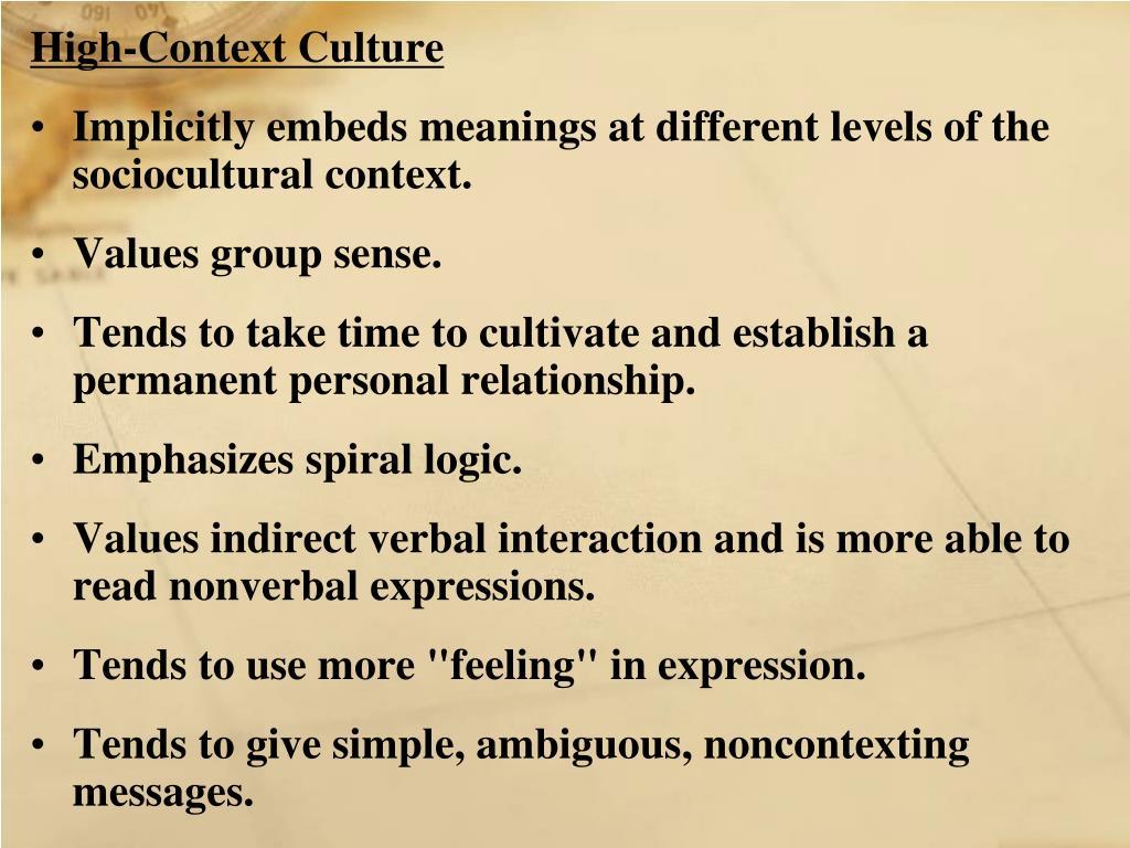 High-Context Culture