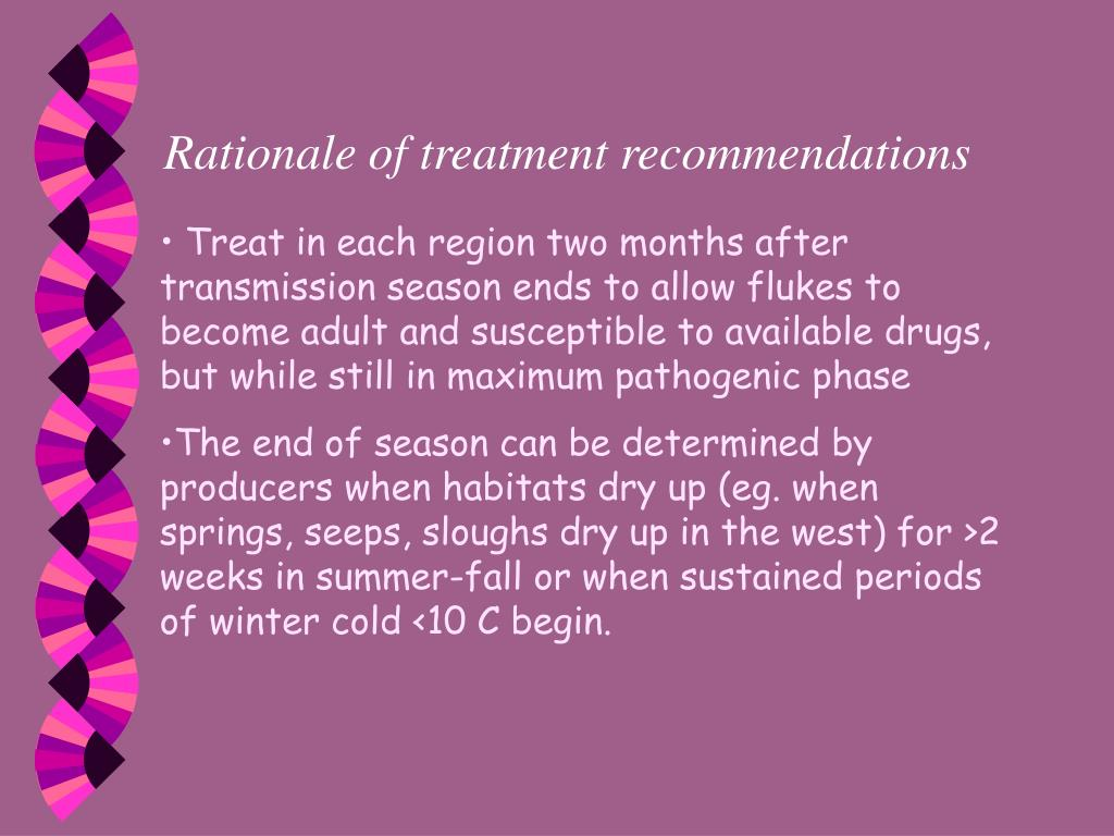 Rationale of treatment recommendations