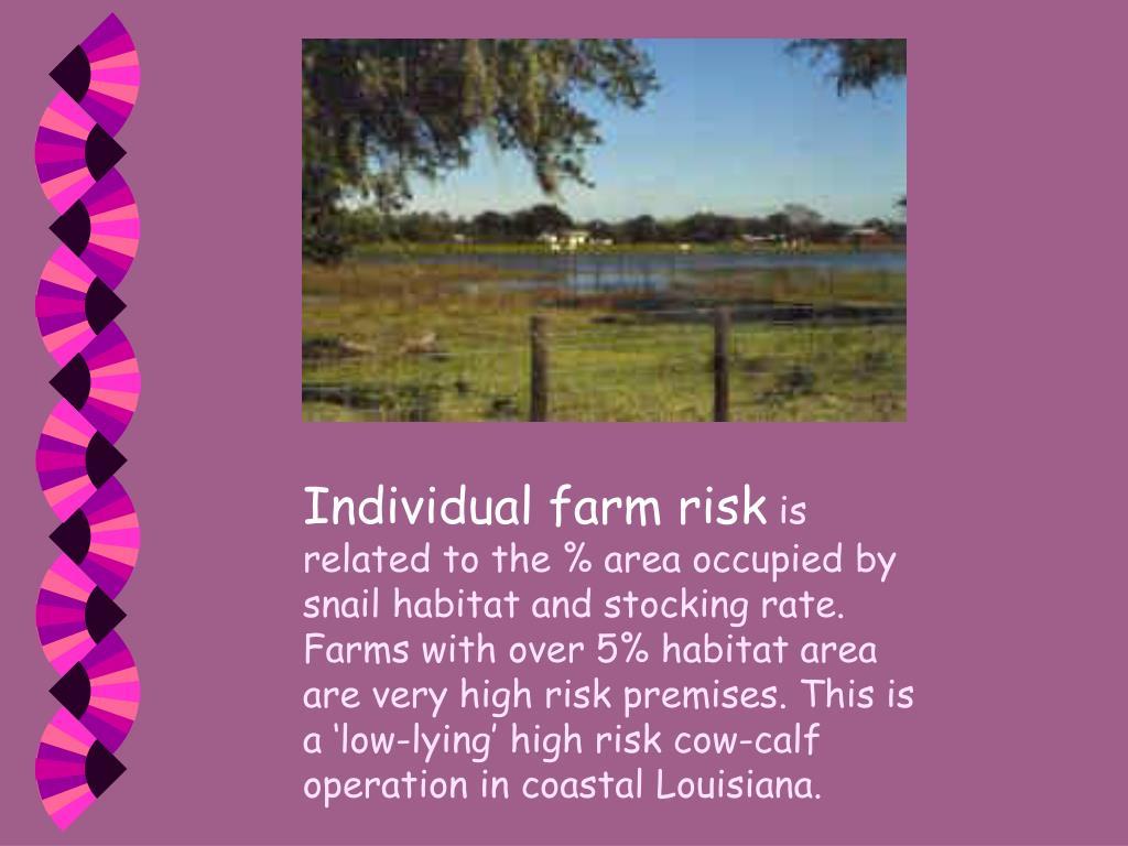 Individual farm risk