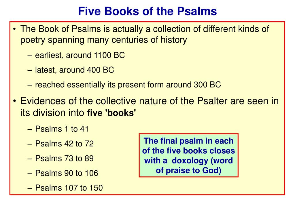 Five Books of the Psalms
