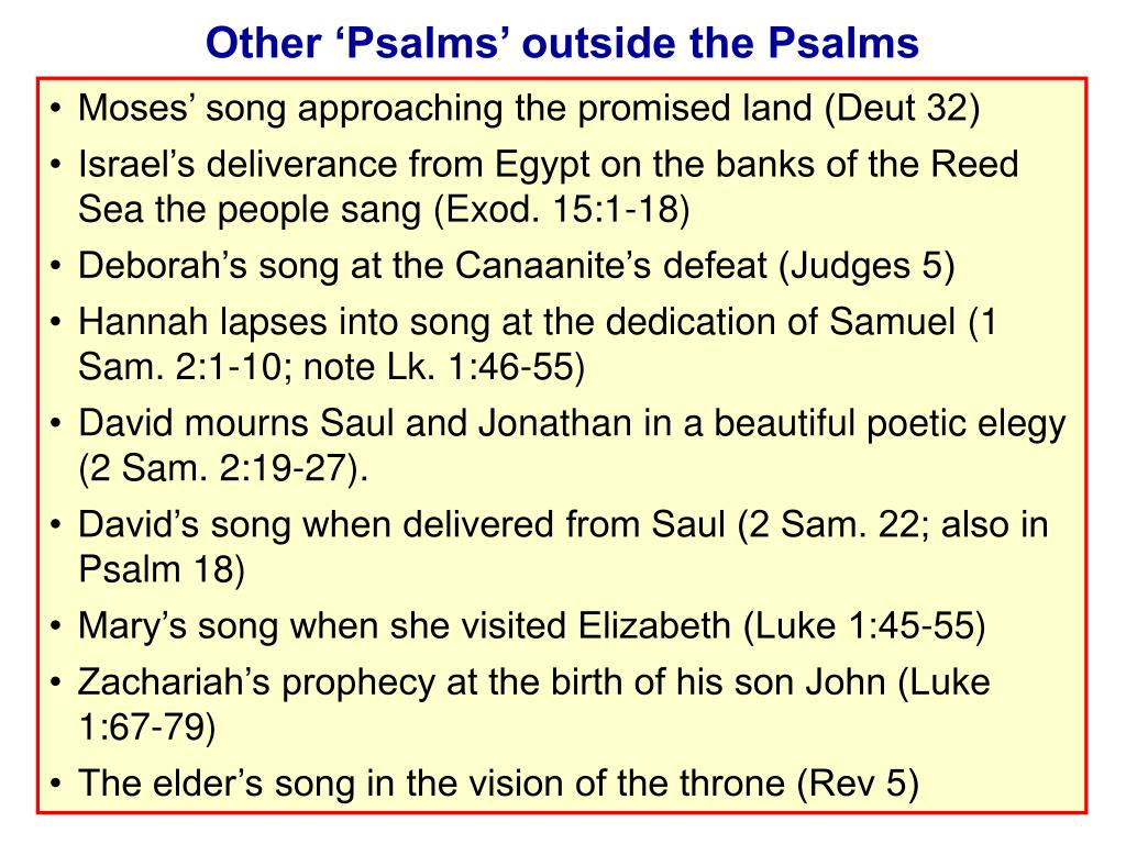 Other 'Psalms' outside the Psalms