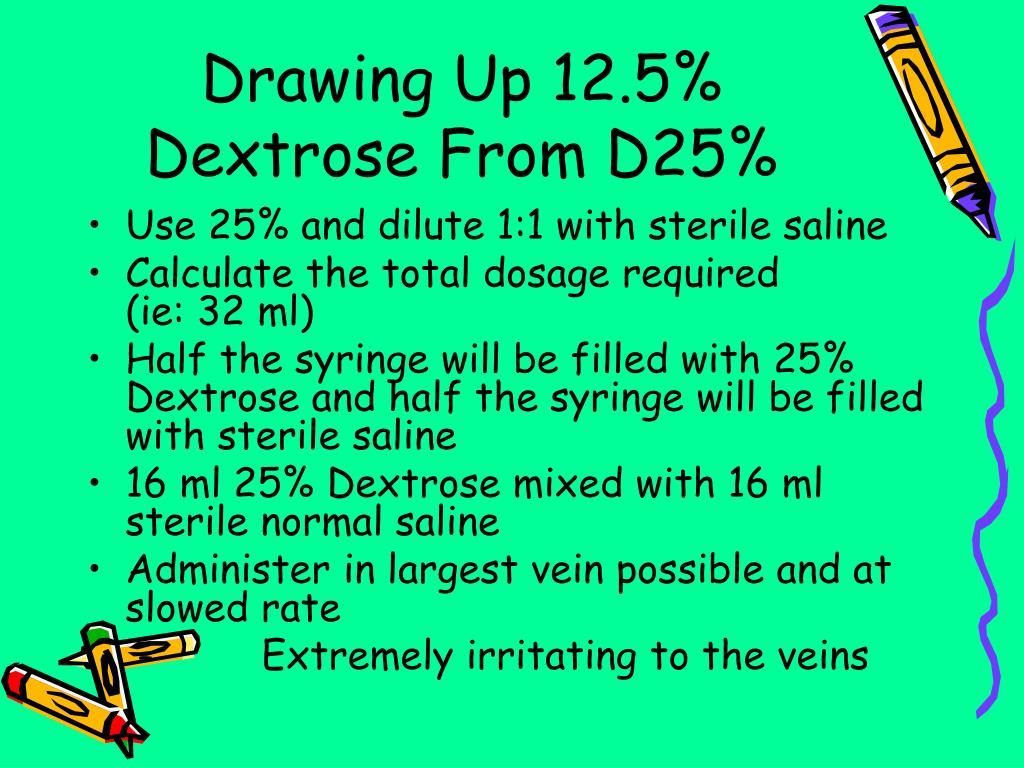 Drawing Up 12.5% Dextrose From D25%