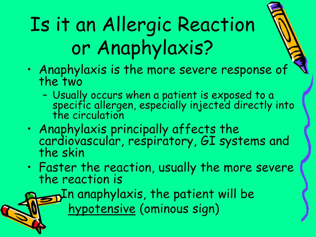 Is it an Allergic Reaction or Anaphylaxis?