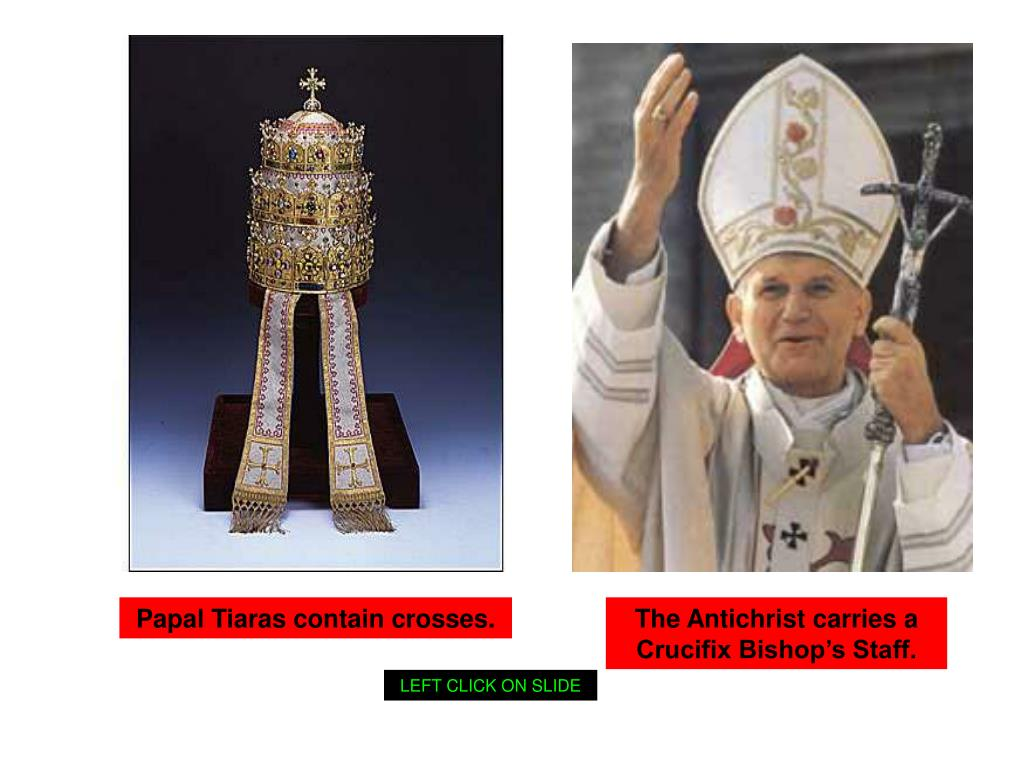 Papal Tiaras contain crosses.