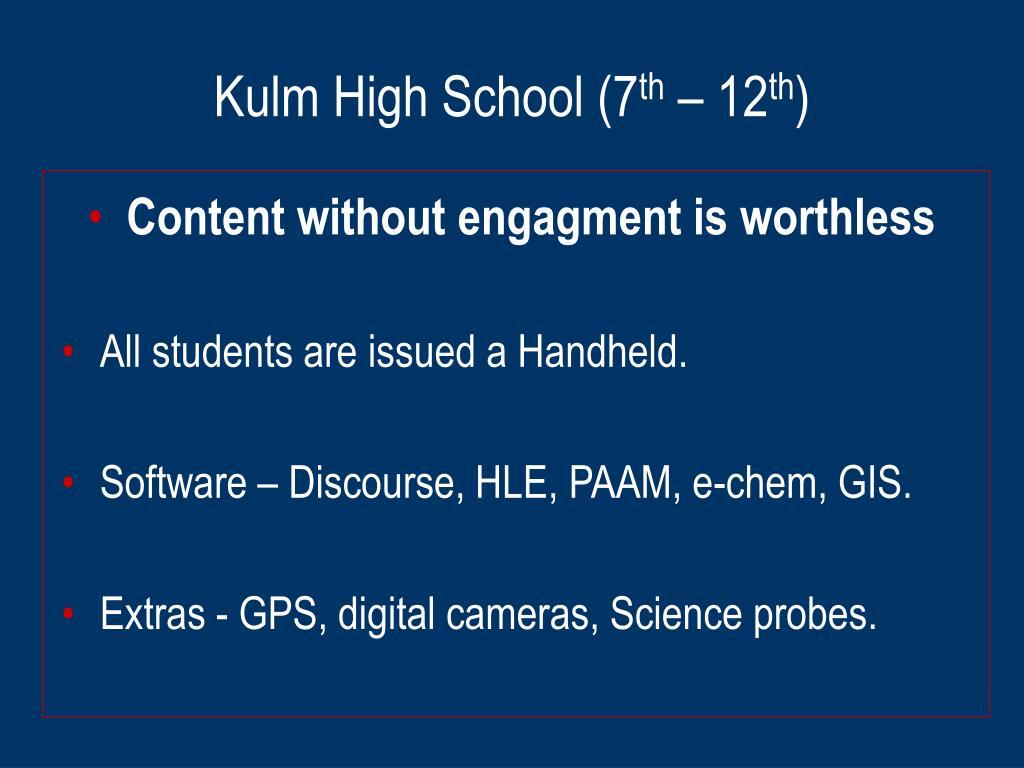 Kulm High School (7