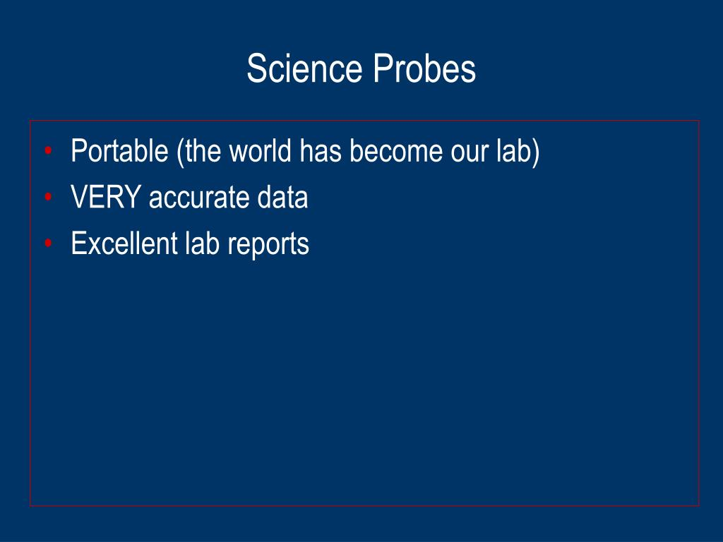 Science Probes