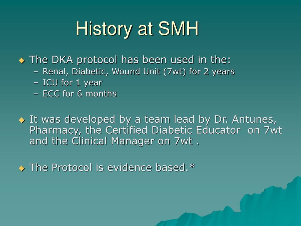 History at SMH