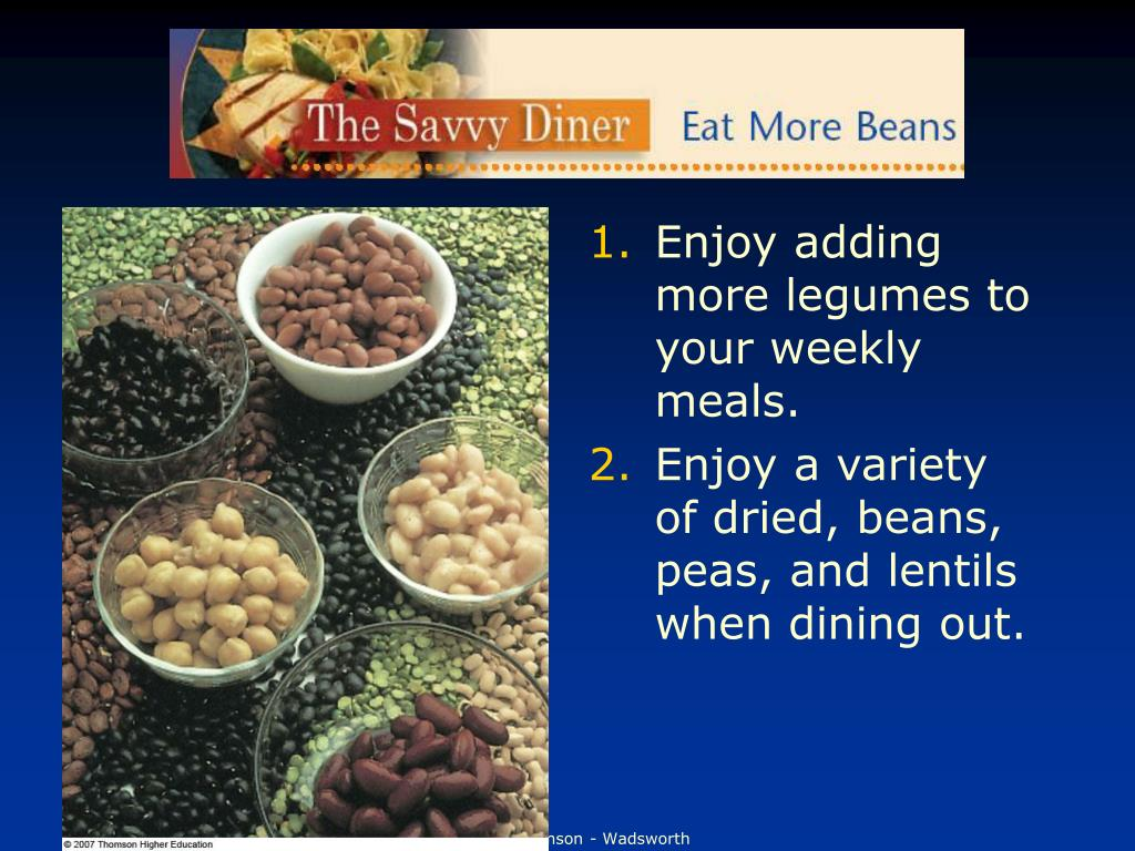 Enjoy adding more legumes to your weekly meals.