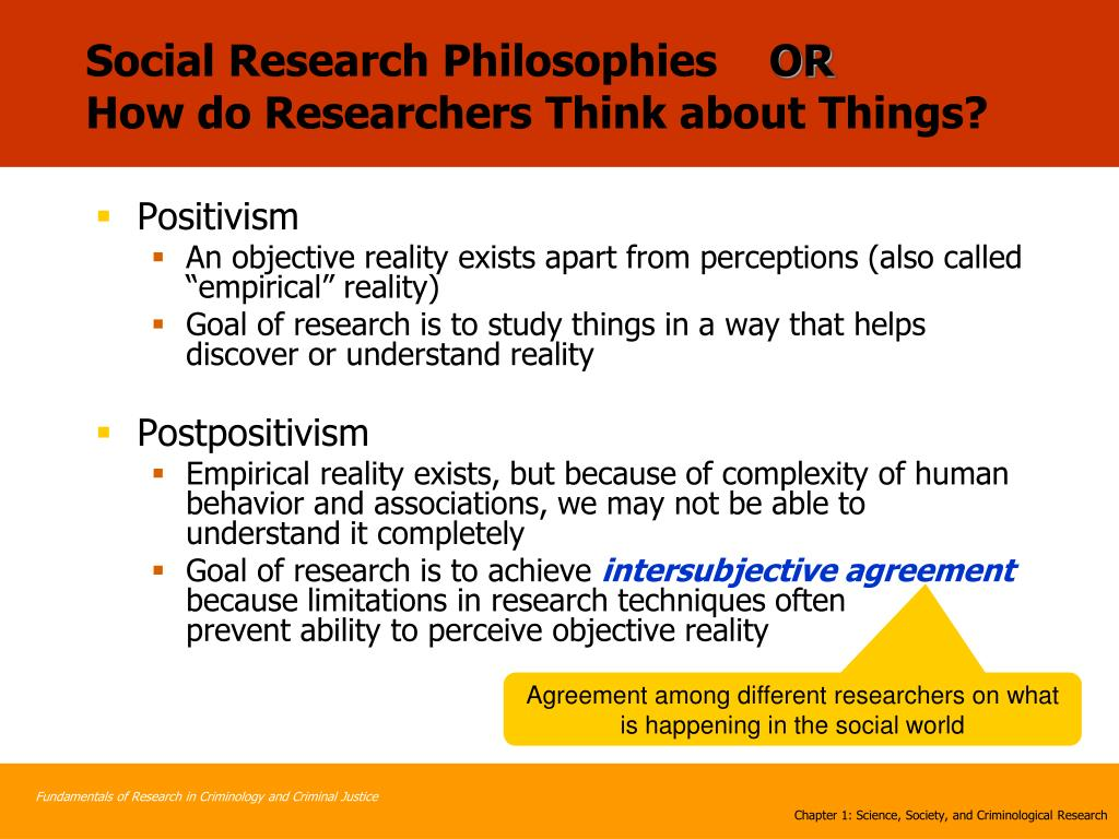 Social Research Philosophies