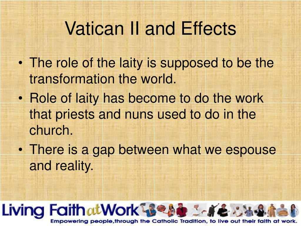 Vatican II and Effects