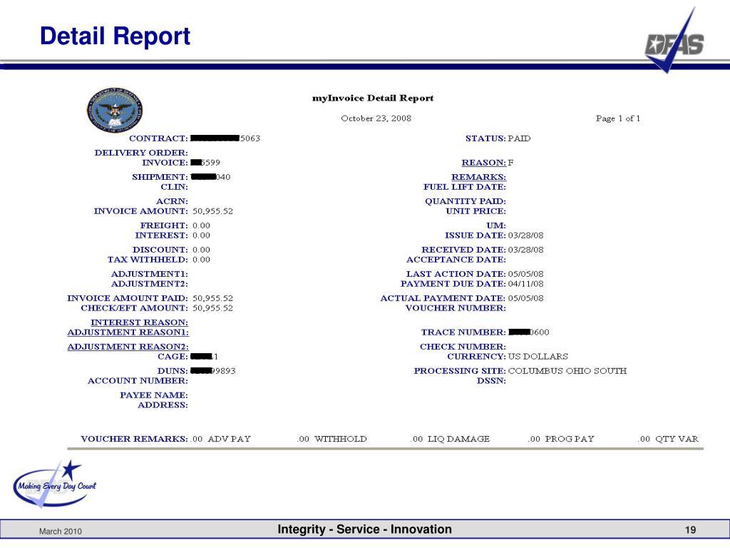 Detail Report