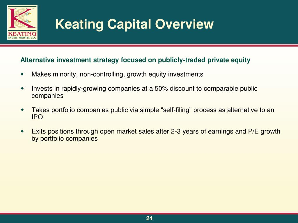 Keating Capital Overview