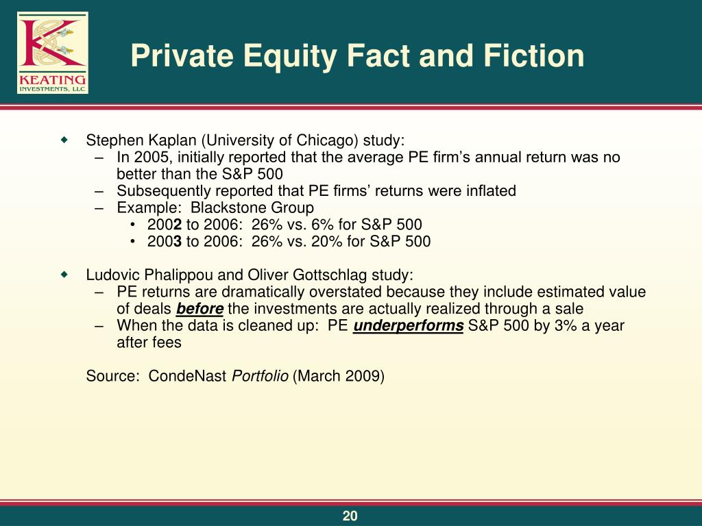 Private Equity Fact and Fiction