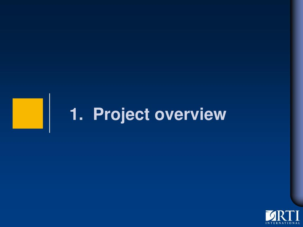 1.  Project overview
