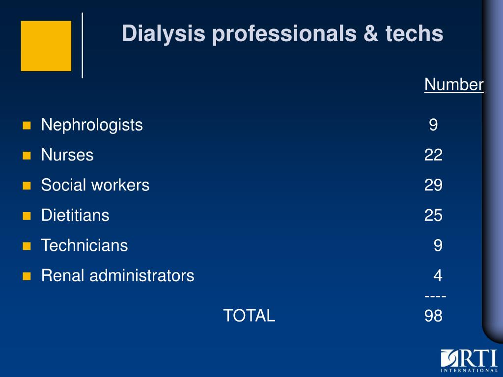 Dialysis professionals & techs