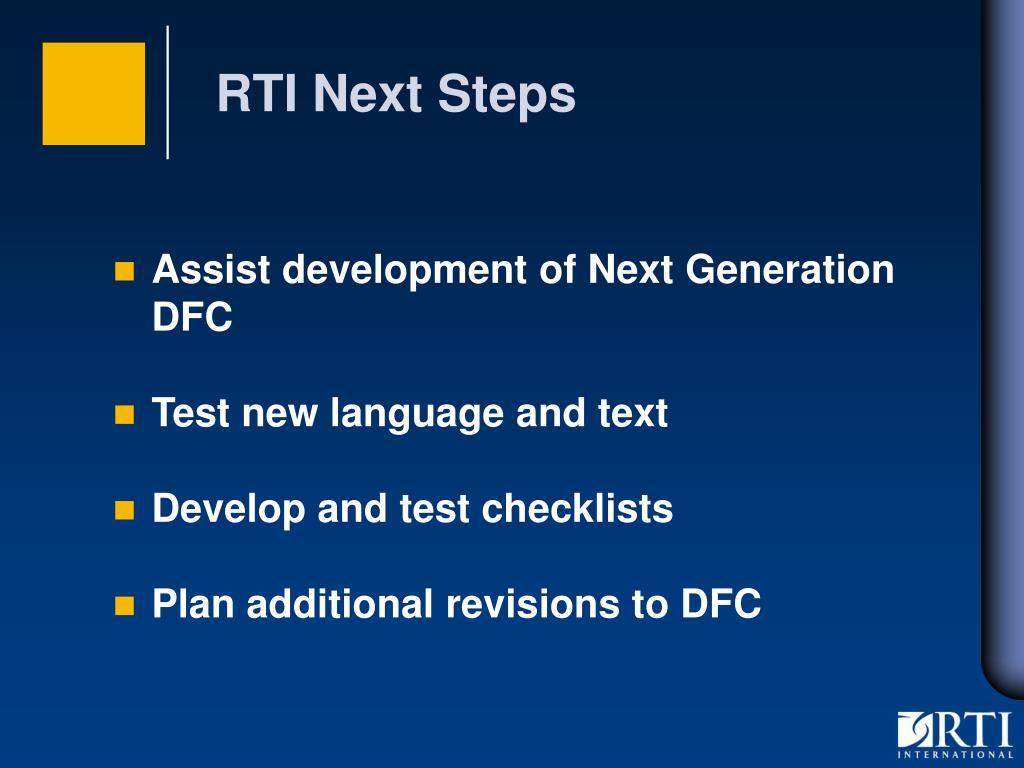RTI Next Steps