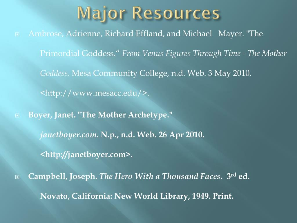 Major Resources