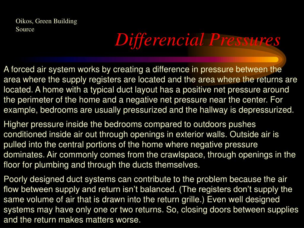 Differencial Pressures